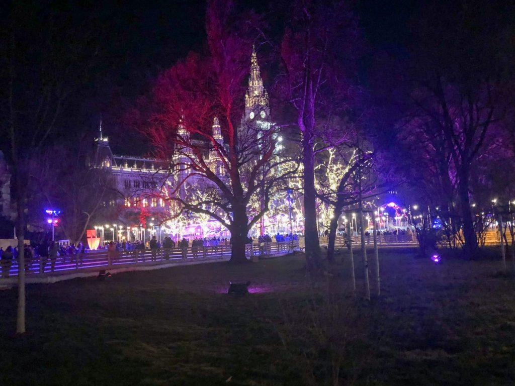 Visiter Vienne 3 jours - Patinoire Hôtel de ville