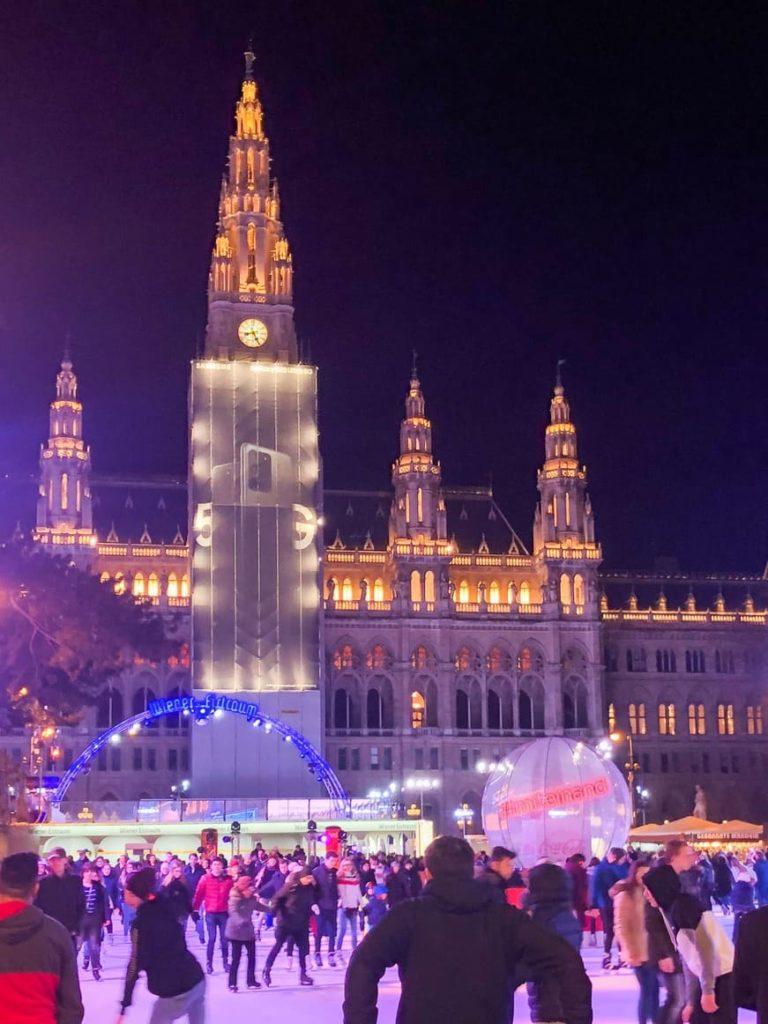 Visiter Vienne 3 jours - Rathaus patinoire